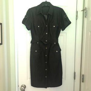 Calvin Klein belted shirtdress